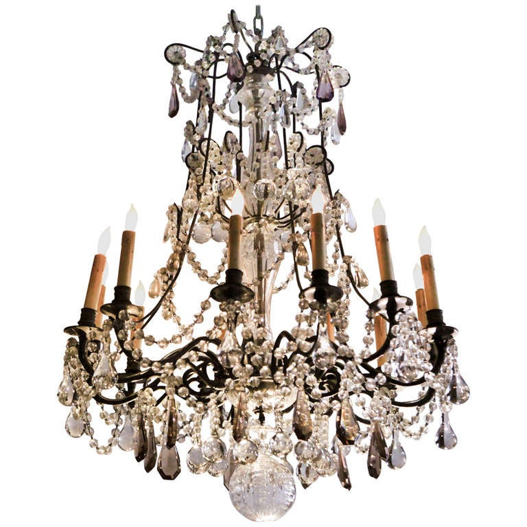 Crystal Chandelier Sale: French Crystal Chandelier For Sale At 1stdibs