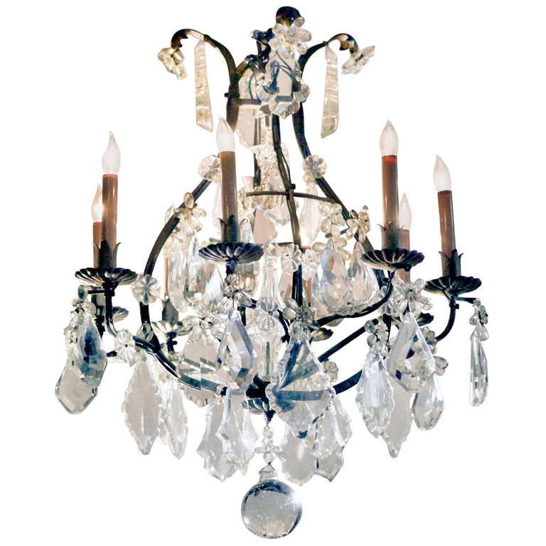 Antique Crystal Chandelier For Sale - Antique Crystal Chandelier For Sale At 1stdibs