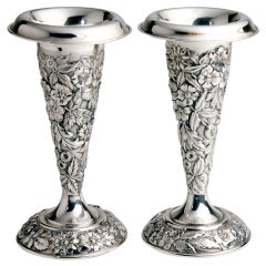 Pair of Silver Vases