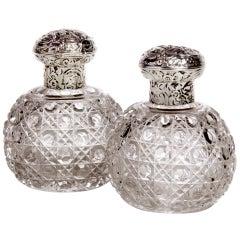 Pair of Crystal Perfume Bottles