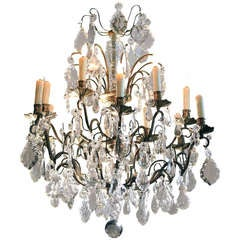 Bronze Crystal Chandelier