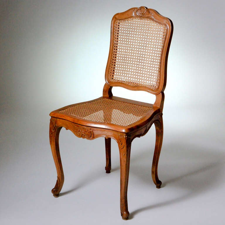 French Louis XV Caned Chairs For Sale 1
