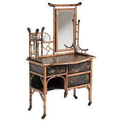 English Bamboo Dressing Table