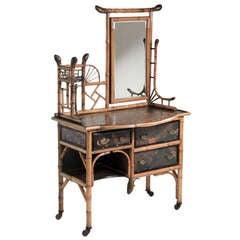 English Bamboo Dressing Table