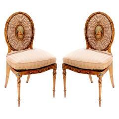 Pair of Satinwood Chairs