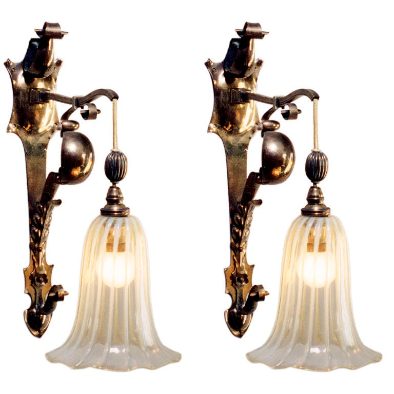 Edwardian Style Wall Sconces For