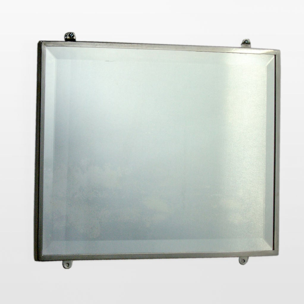 Metal Bathroom Mirror At 1stdibs
