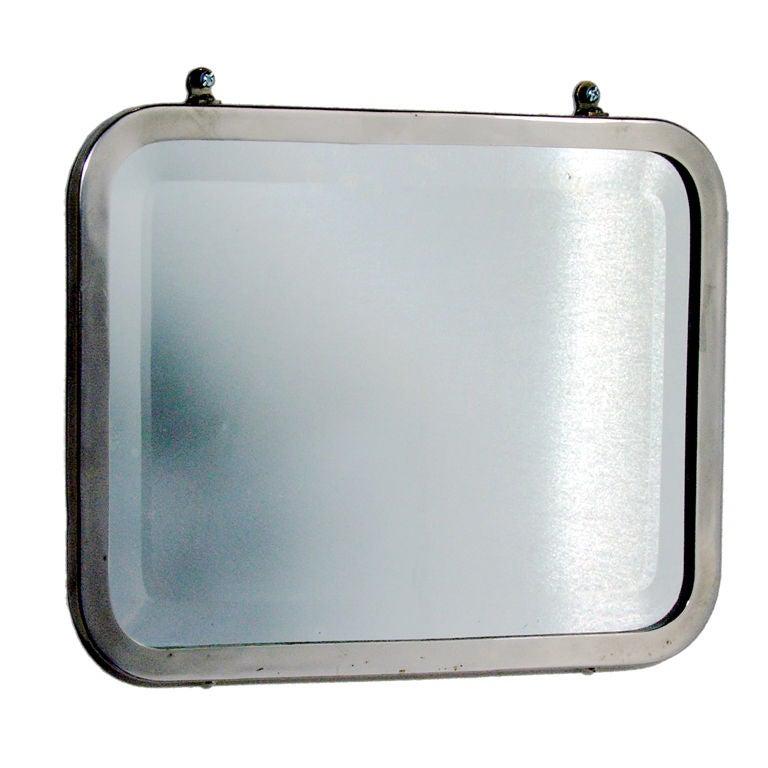 Antique Metal Bathroom Mirror at 1stdibs