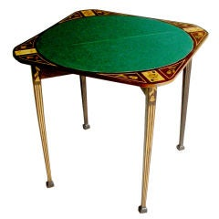 Marquetry Game Table