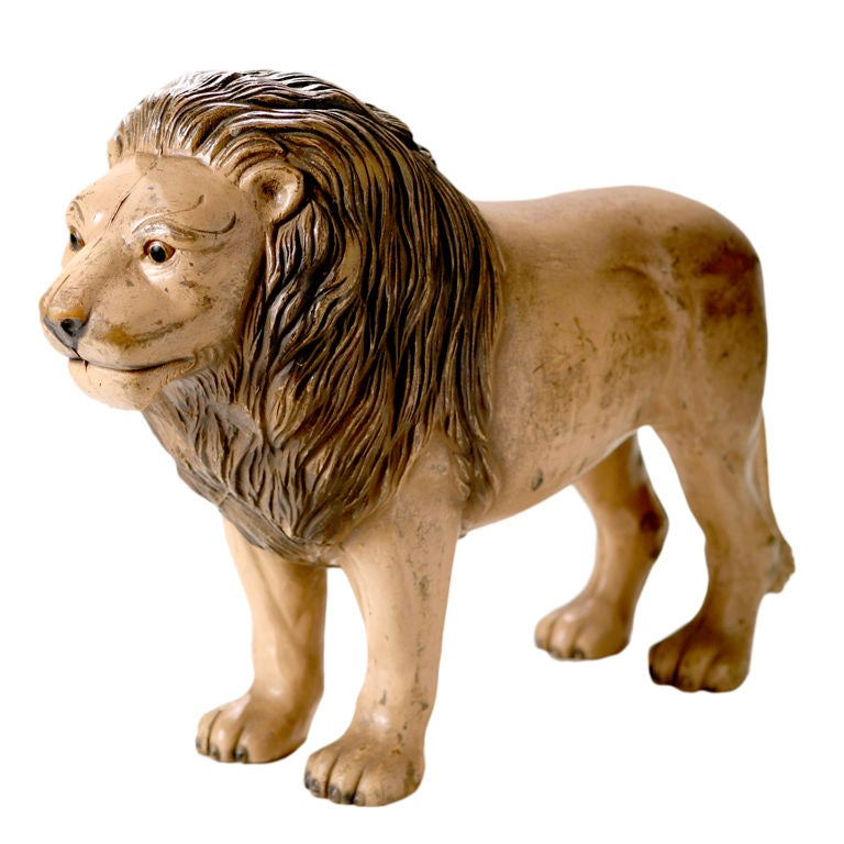 Vintage English Toy Lion 1