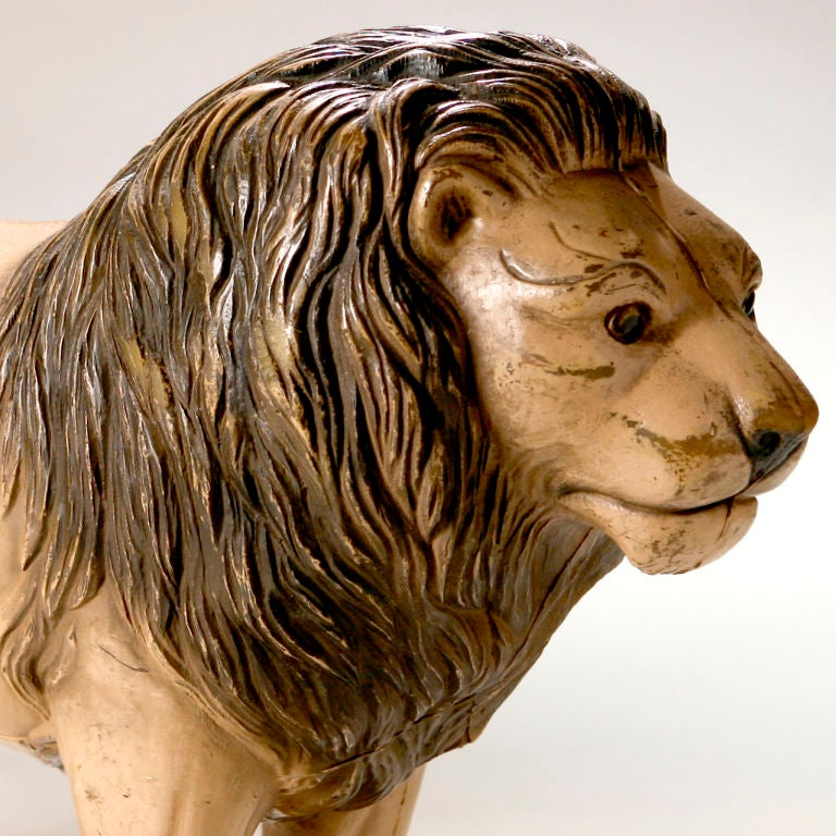 20th Century Vintage English Toy Lion For Sale