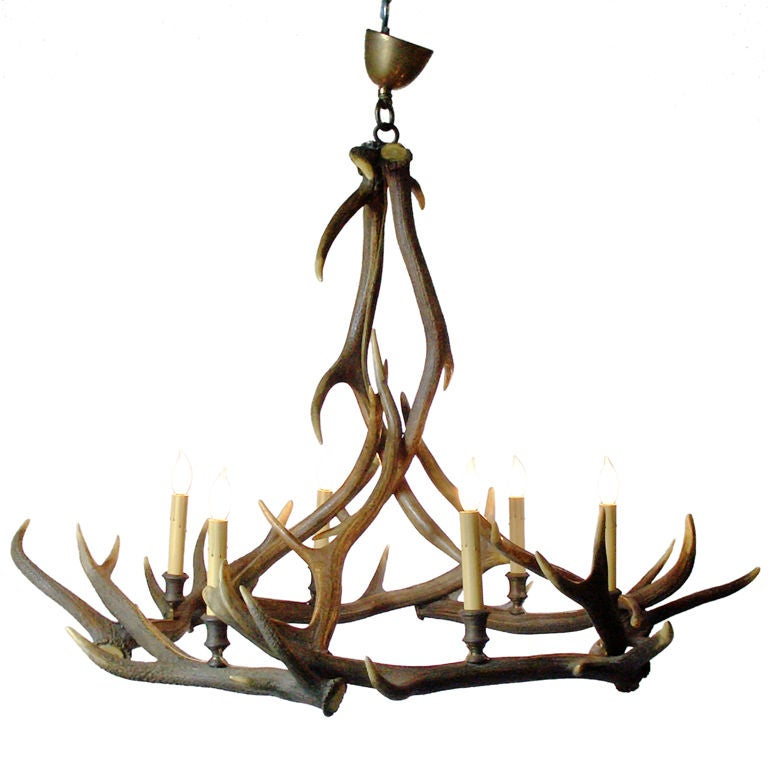Deer Antler Chandelier At 1stdibs