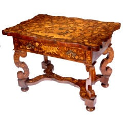 Rare 18th Century Dutch Marquetry Table