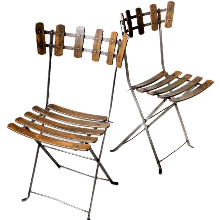 Pair of French Folding Chairs