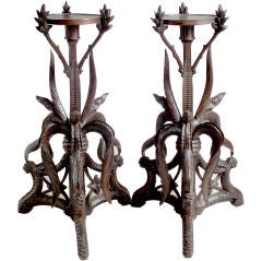 Pair of  Wooden Stands