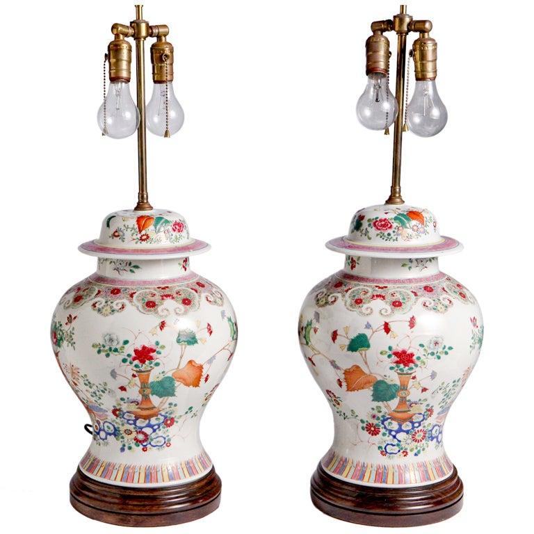 Oriental Flower Lamps