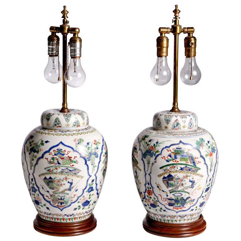 Oriental Ginger Jar Lamps