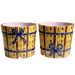 Minton Bamboo Garden Pots