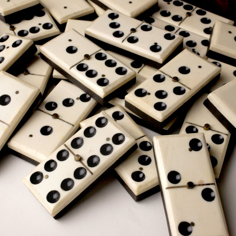 Ebony And Ivory Dominoes 62