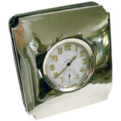 Silver Travel Clock