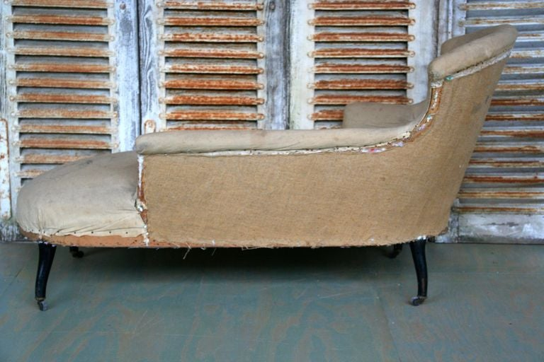 French napoleon iii asymmetrical french chaise longue for for Chaise napoleon