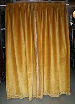 Pair of Gold Velvet Drapes