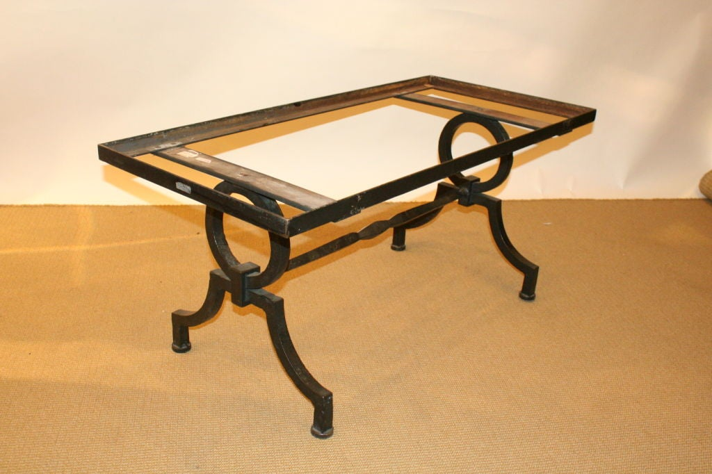 French 1940s Heavy Wrought Iron Coffee Table At 1stdibs