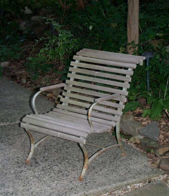 French Garden Armchair For Sale 1