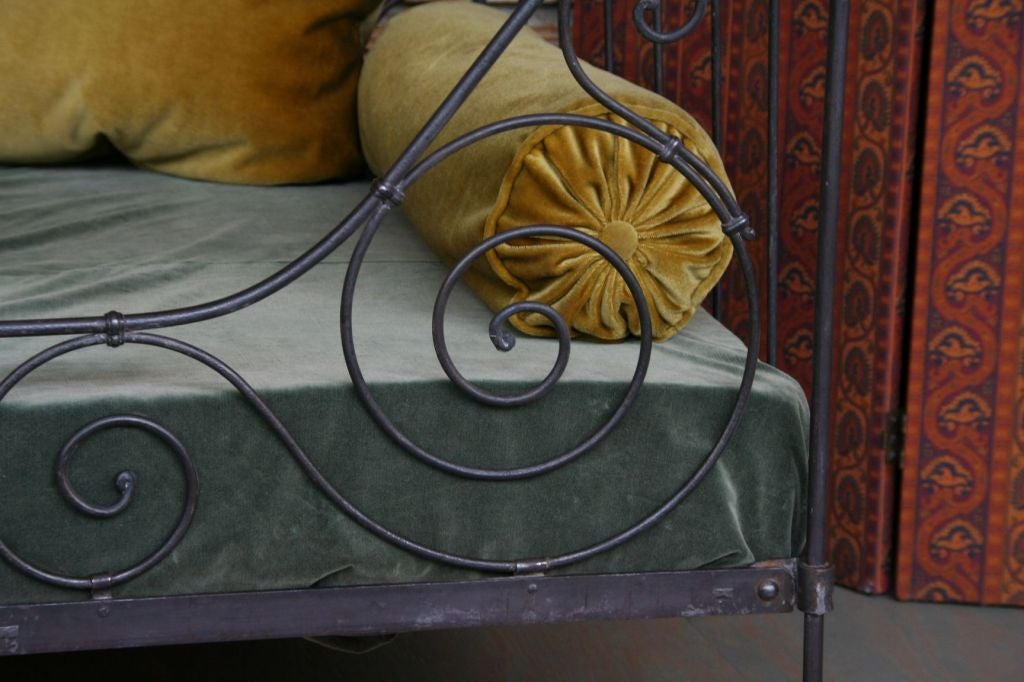 Neoclassical Folding Iron Bed For Sale