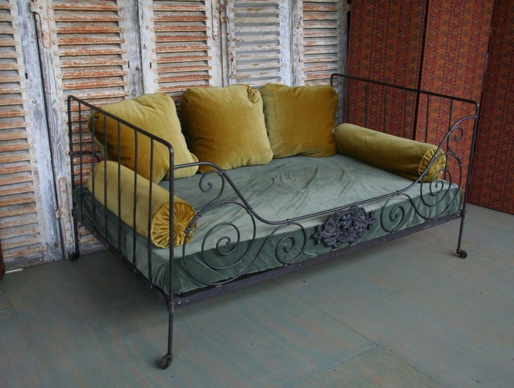 Folding Iron Bed In Good Condition For Sale In Long Island City, NY