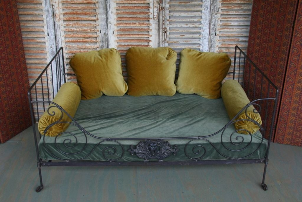 20th Century Folding Iron Bed For Sale