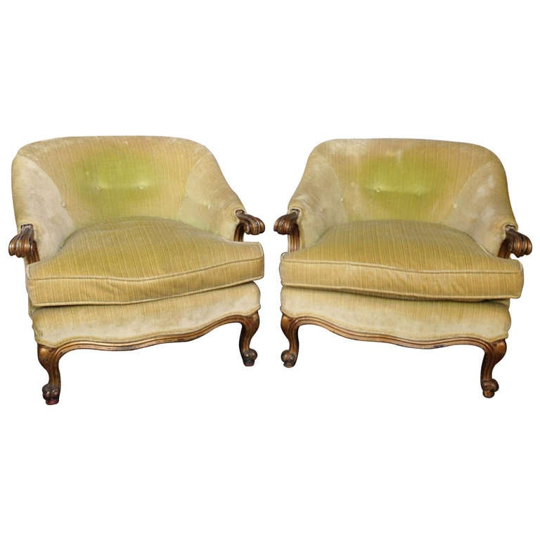 Pair of Italian 1940s Armchairs