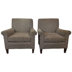 Pair of American 1960s Club Chairs