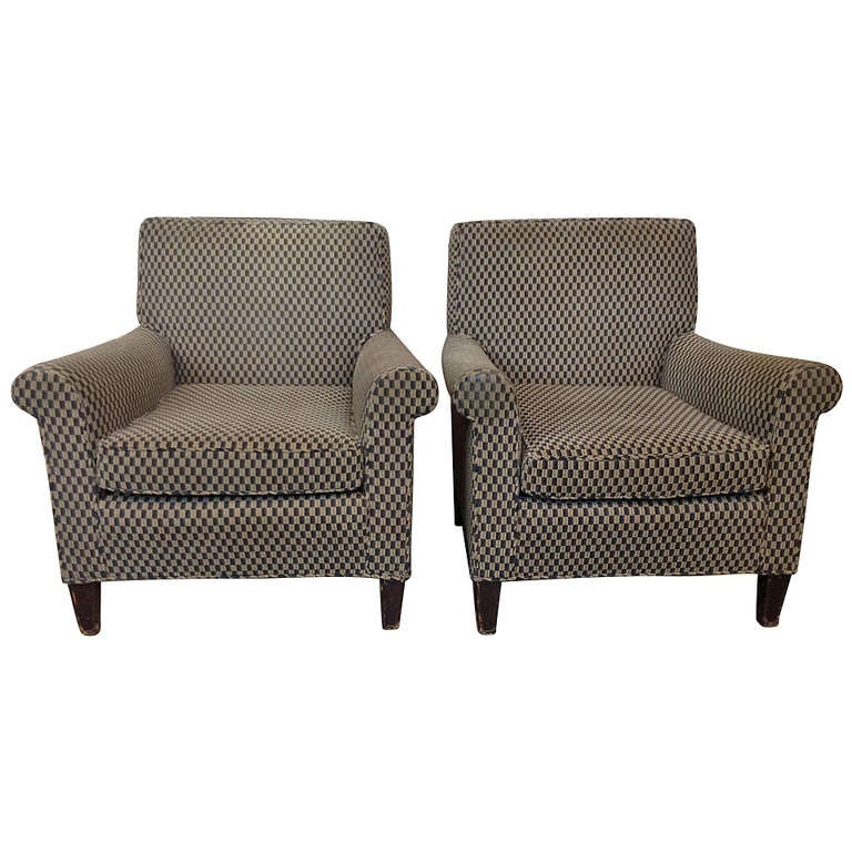 Pair of 1960s Club Chairs