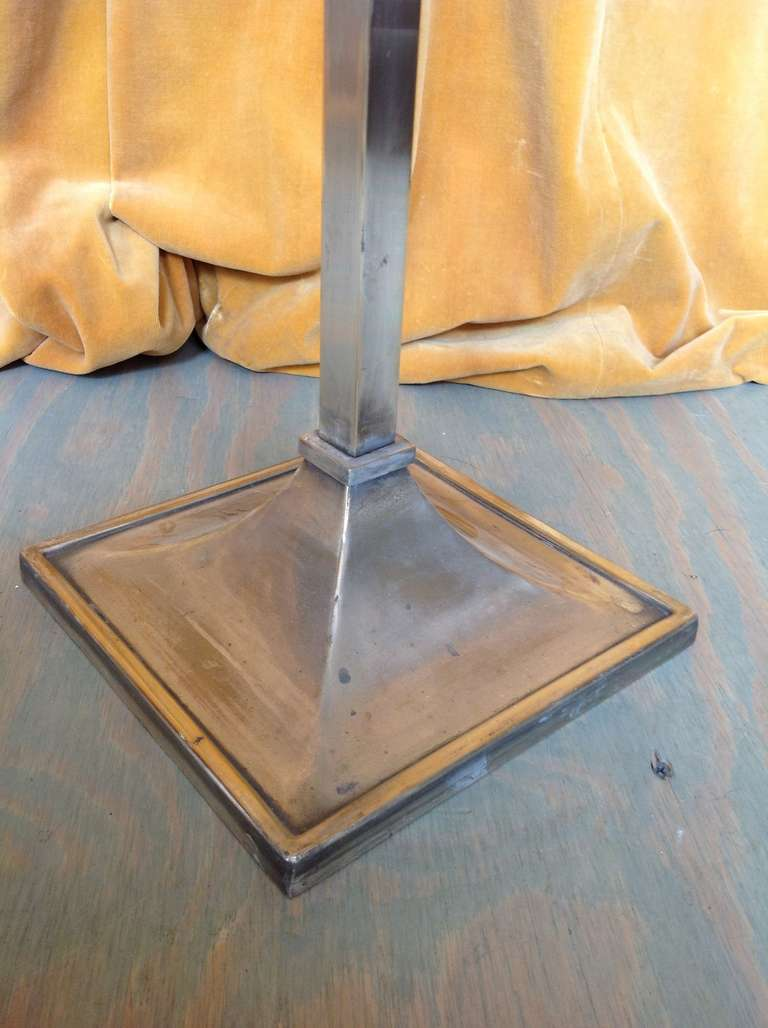 French 1950s Mid-Century Modern Nickel-Plated Floor Lamp For Sale 3