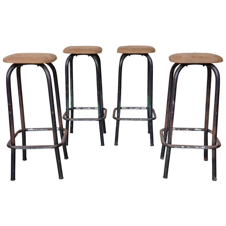 Set Of 4 Tall Bar Stools At 1stdibs
