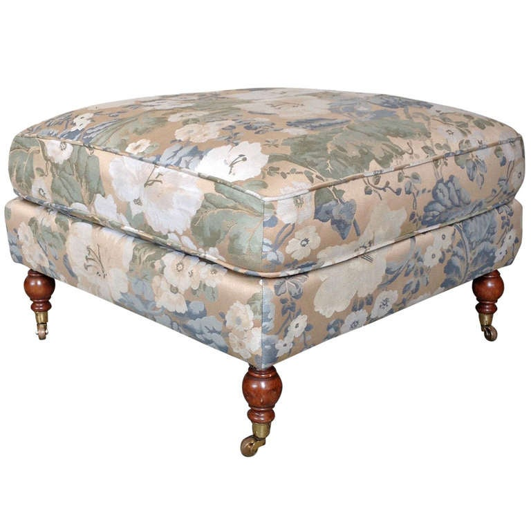 large upholstered ottoman for sale at 1stdibs. Black Bedroom Furniture Sets. Home Design Ideas