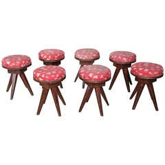 Set of Seven French Children Stools