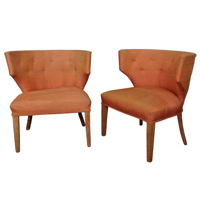 Pair of mid century modern armchairs for sale at 1stdibs for Mid century modern armchairs