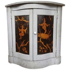 Corner Cabinet with Chinoiserie Decorations