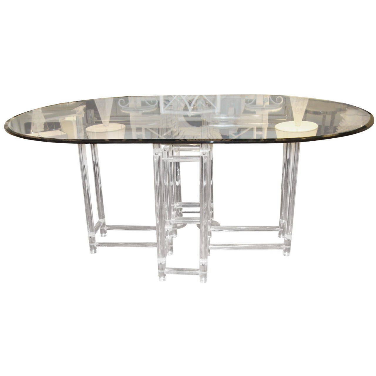 vintage acrylic dining table at 1stdibs
