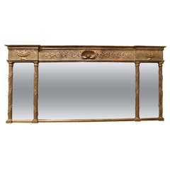 Gilded Trumeau Tryptich Mirror