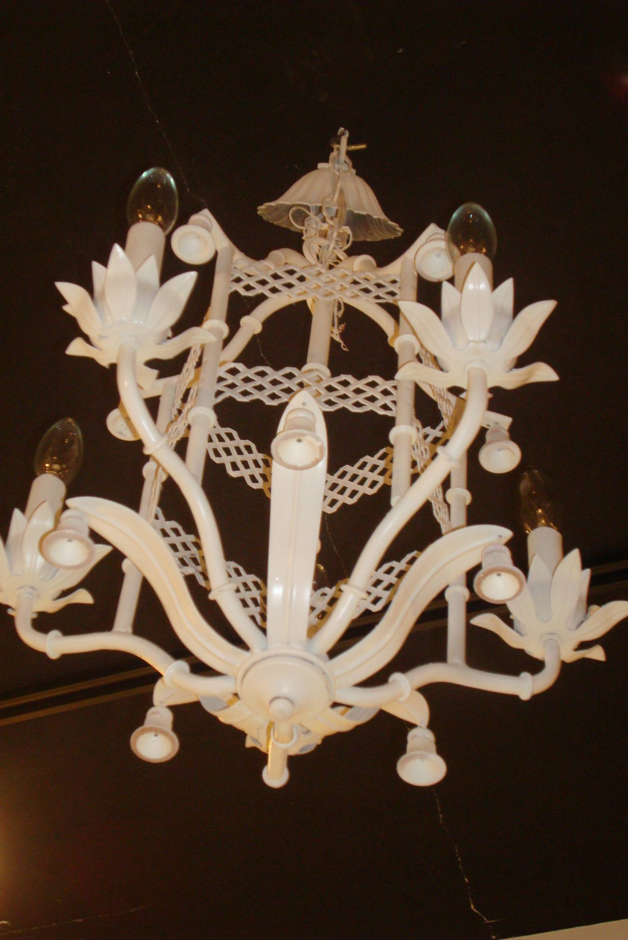 Vintage Pagoda Chandelier With Bells At 1stdibs