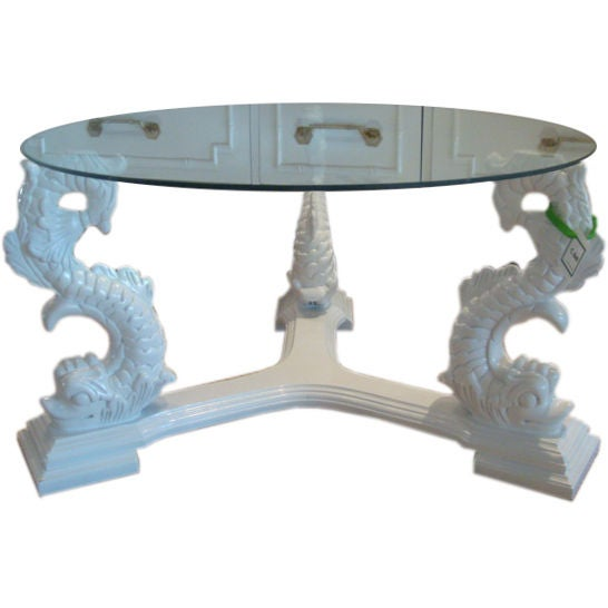 Restored Regency Triple Dolphin Table At 1stdibs