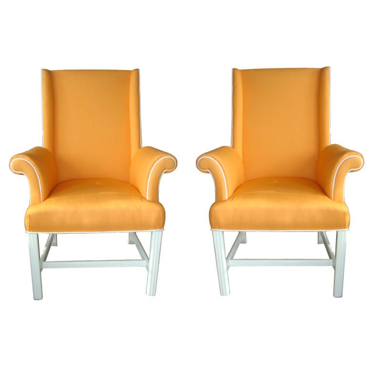 Pair Of Restored Palm Beach Regency Chairs At 1stdibs