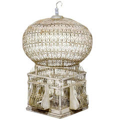Vintage Painted French Birdcage