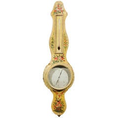 18th Century Painted Barometer from France