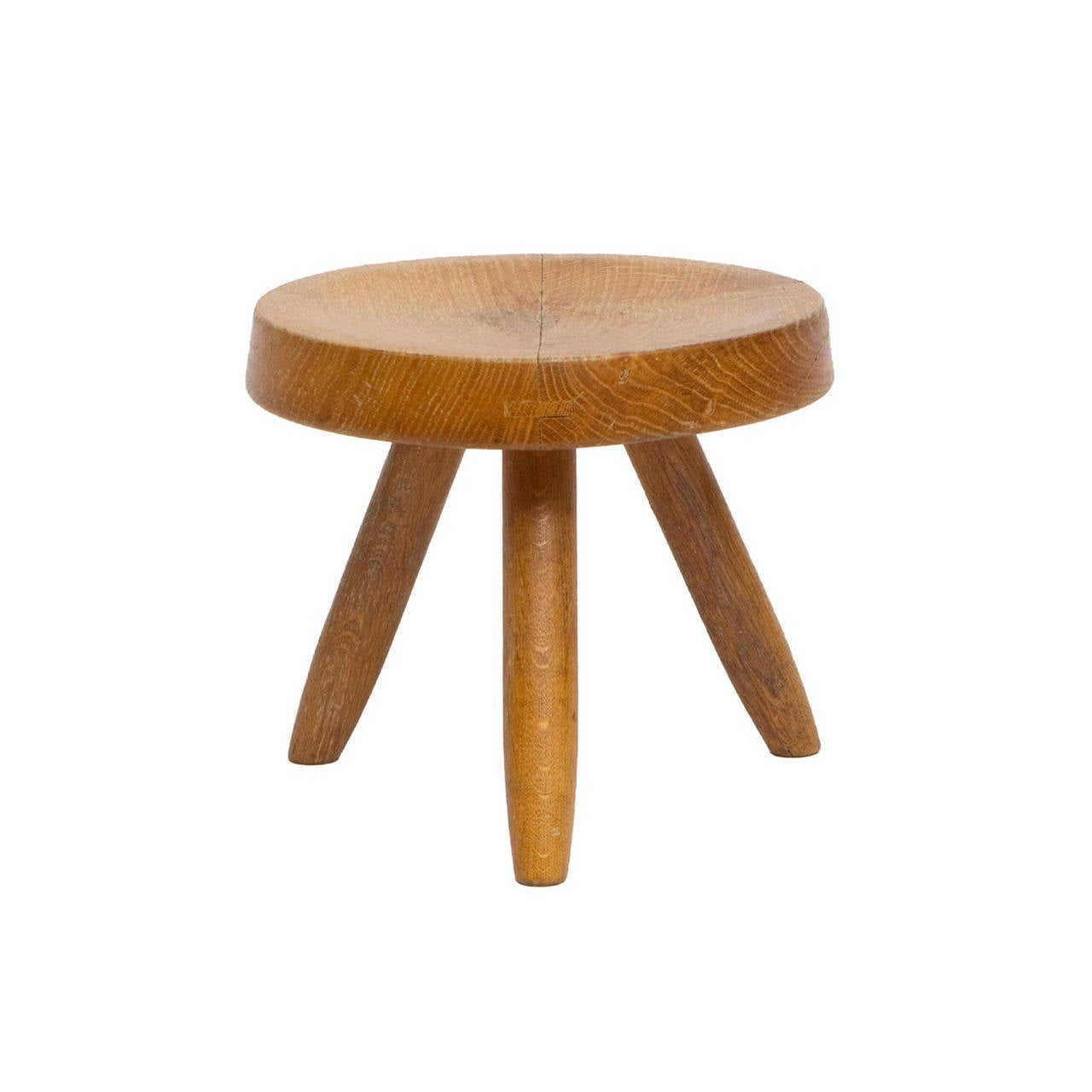 Charlotte Perriand Wooden Stool, circa 1950