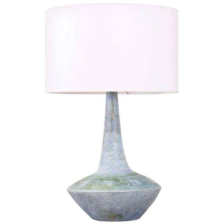 this les deux potiers blue ceramic table lamp circa 1960 is no longer. Black Bedroom Furniture Sets. Home Design Ideas
