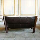 Leather Lounge Sofa by Percival Lafer, Brazil, Circa 1960 thumbnail 3